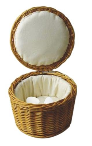 Paderno World Cuisine Fabric-Lined Rattan Egg Basket, 10-1/8-Inch (Lined Wicker Basket With Lid compare prices)