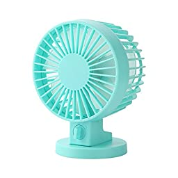 USB Powered 2 Mode Speed Adjustable Dual Blades Mini Desk Fan Portable Ultra Quiet Cooling Fan for PC Laptop Notebook