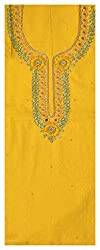 Astha Boutique Women's Cotton Kurta Fabric (Yellow)