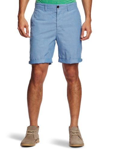 Farah Vintage The Stanton Oxford Men's Shorts Azul W32 IN