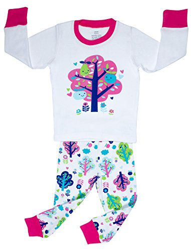 "Elowel ""Apple Tree"" 2 Piece Pajama Set 100% Cotton -Size 6 front-1073643"