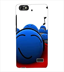 ColourCraft Funny Smilies Design Back Case Cover for HUAWEI HONOR 4C