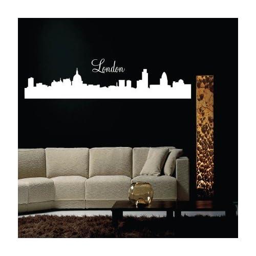 London City Skyline Silhouette Vinyl Wall Decal Sticker Graphic