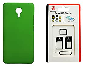 XUWAP Back Hard Case Cover With Sim Adapter For Meizu M2 Note - Green