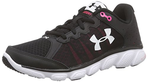 Under Armour UA W Micro G Assert 6 - Scarpe Running Donna, colore Nero (BLK/HYR/WHT 1), taglia 36 EU (3 UK)