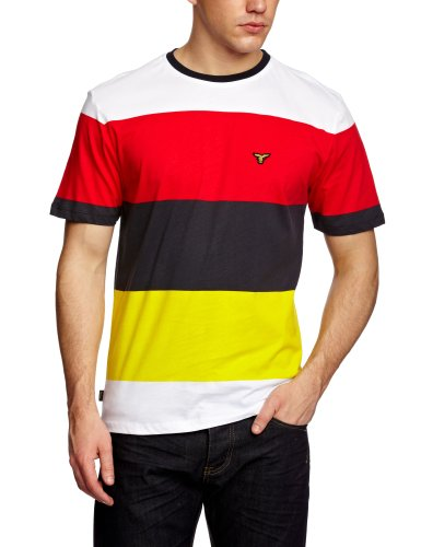 Le Breve Empress Logo Men's T-Shirt Red/Navy/Yellow Small