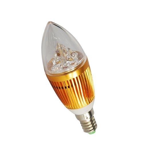 Generic Anti-Glare 100V-240V 5W 3500K Standard E14 Led Ceiling Aluminum Lamp Bulb Downlight Candle Lightling Warm White