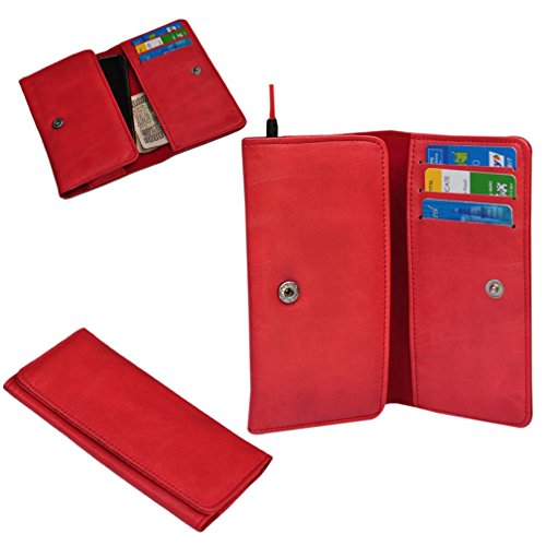 Ding Dong PU Leather Mobile Wallet Flip Pouch Case Cover For Panasonic P81  available at amazon for Rs.289