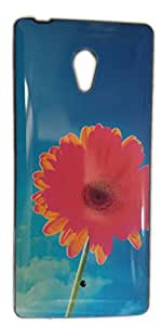 Cellmate Glossy IMD Printed Back Cover for Micromax Canvas Fire 4G Q411 -FLOWERS