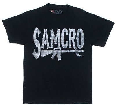 Samcro Rifle - Sons Of Anarchy T-shirt: Adult Small - Black