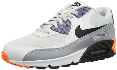 Nike Men's Air Max 90 Essential Lt Bs Gry/Blk/Irn Prpl/Atmc Or Running Shoe 10 Men US