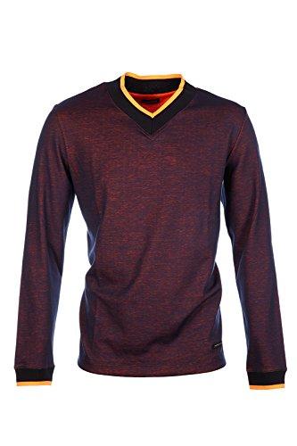 dirk-bikkembergs-t-shirt-maglia-maniche-lunghe-uomo-collo-a-v-fluo-logo-blu-eu-xxl-uk-44-c2db7176310