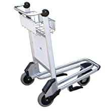 "Vestil LUG-B Nestable Multi-Use Cart with Bar Handle, Polyurethane Wheels, 550 lb. Load Capacity, 39"" Height x 26-1/2"" Width x 39-1/2"" Depth"