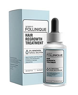 FOLLINIQUE -Hair ReGROWTH Treatment - Fully FDA Approved - 2% Minoxidil - Fast Acting, Clinically Proven Results in 2 months - Take Control Today - Never Give Up - STOP Hair Loss and START Hair Growth