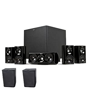 Klipsch HD Theater 600 5.1 Home Theater System With FREE 2.0 UPGRADE to 7.1 Premier Acoustic 4.0 Sats One Pair