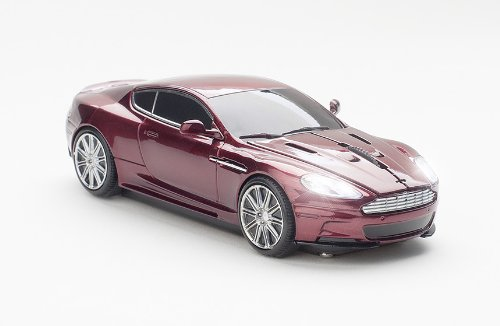 Click Car Aston Martin Wireless Optical Mouse (Magnum Red)