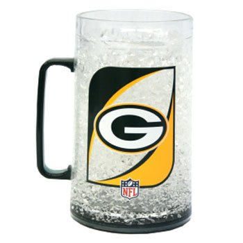 NFL Green Bay Packers 36-Ounce Crystal Freezer Monster Mug (Green Bay Packer Beer Glass compare prices)