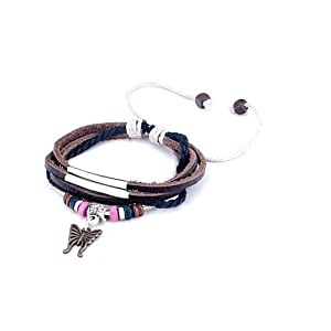 Pugster Decorative Leather Bracelet Bracelets