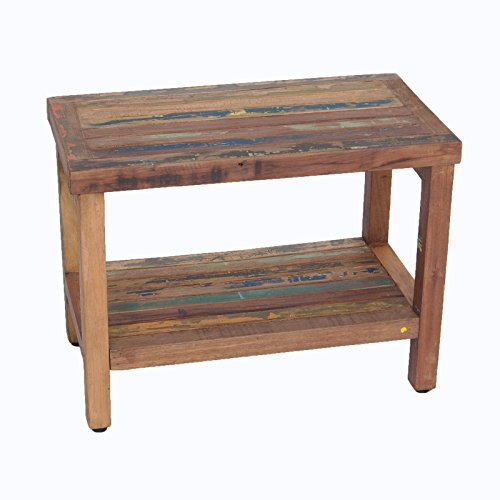 Recycled Boat Wood Indoor Outdoor Bench