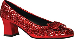 Red Sequin Woman Shoes- Adult Costumes - Medium (7-8)
