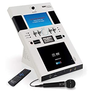 The Singing Machine Karaoke System SMD-572 Table Top DVD/CDG with Microphone and Remote