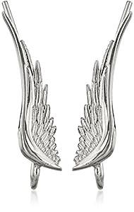 """The Ear Pin Sterling Silver """"Whispering Angel Wings"""" Earrings"""