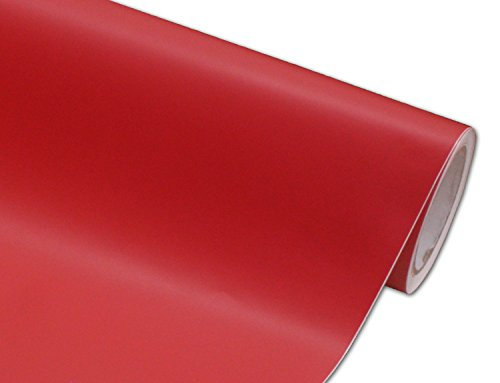 Hachi Auto Matte Flat Red Vinyl Car Wrap 12-by-60-inch (Wine Red Car Paint compare prices)