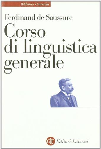Corso di linguistica generale PDF
