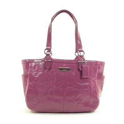 Coach Gallery Embossed Patent Tote Handbag Purse Blossom