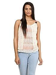 Mayra Women's Net Top (1604T11406_XL Orange )