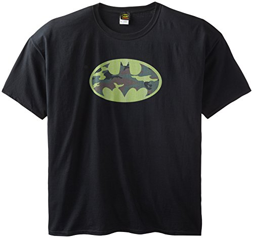 DC Comics Men's Big-Tall Batman Camo Logo T-Shirt at Gotham City Store