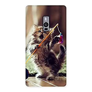 Delighted Dancing Cute Cat Back Case Cover for OnePlus Two