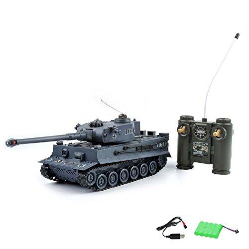 German-Tiger-I-RC-ferngesteuerter-Panzer-Tank-Militr-Fahrzeug-Modell-Gefechtmodi-Schusssimulation-Sound-und-Beleuchtung-Komplett-Set