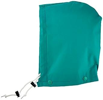 ONGUARD 71060 PVC on Nylon Polyester Chemtex Level C Hood, Green, Size Large
