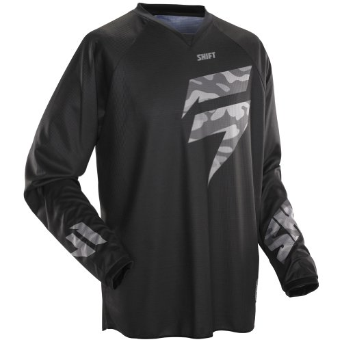 Shift Racing Recon Veteran Men's MX/Off-Road/Dirt Bike Motorcycle Jersey - Black Camo / 2X-Large forged kick start starter lever pedal for honda crf450r 12 13 14 15 16 motocross enduro motorcycle dirt pit bike off road
