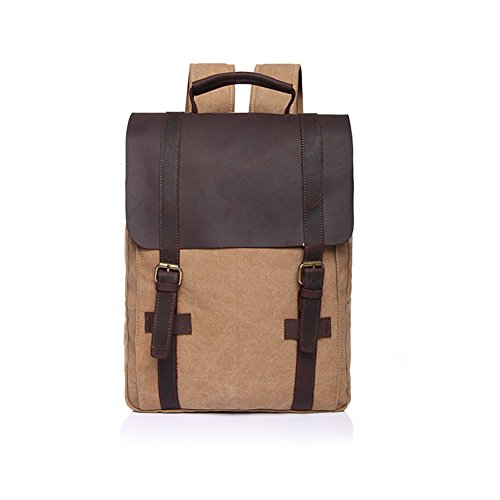 sechunk-unisex-canvas-leather-retro-backpack-knapsack-laptops-bags-khaki