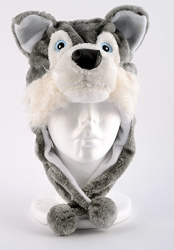 Plush Husky Animal Hat Wolf Brand New Animal Hat High Quality Polyester