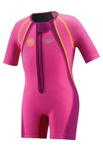 Speedo Kid's UV Thermal Suit, Pink, 6-6X