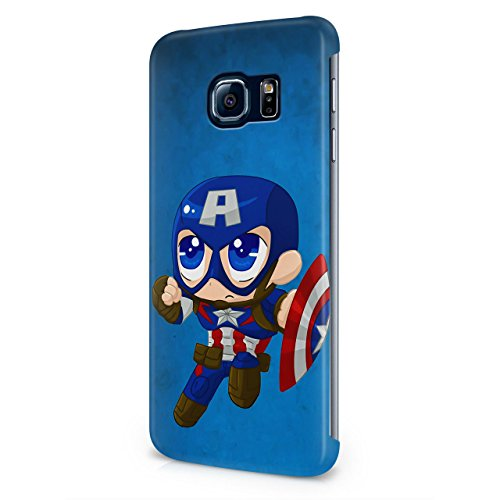 Chibi Captain America The Avengers Hard Snap-On Protective Case Cover For Samsung Galaxy S6 Edge Plus