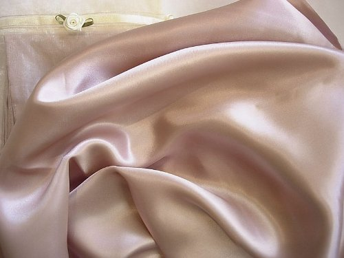 Neutral Pink Luxury 100% Silk Pillowcase for Beauty Sleep Queen/std