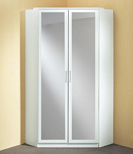 Eckkleiderschrank-in-alpinwei-mit-2-Spiegeltren-8-Einlegebden-und-2-Kleiderstangen-Aufstellma-120-x-120-cm-Mae-BHT-ca-9519895-cm
