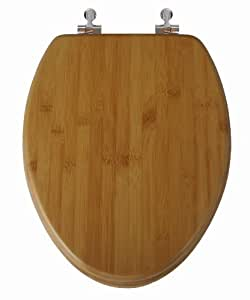 Topseat 1BMNI900 Natural Bamboo Toilet Seat, Elongated,