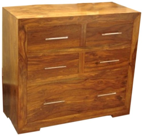 Mango Wood 5-Drawer Chest