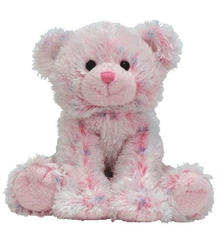 TY Beanie Babies Ticklish  - pink multi bear