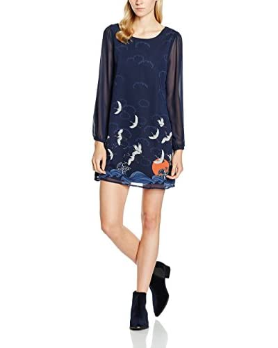 Yumi Vestido Crane Shift Azul Marino