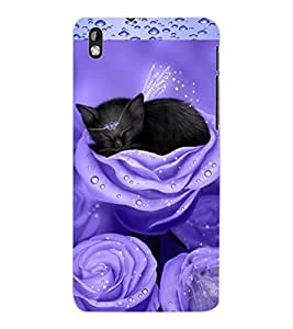 ColourCraft Angel's Cat Design Back Case Cover for HTC DESIRE 816