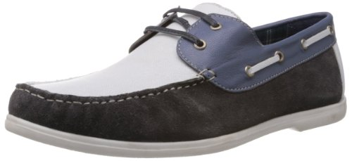Famozi Famozi Men's Leather Boat Shoes (Multicolor)