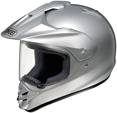 Shoei Hornet-DS Dual Sport Motorcycle Helmet Light Silver Extra Small XS
