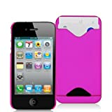 iPhone 4s plus iPhone 4 Silicone Case with Credit Card Slot - Pink