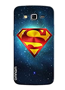 Omnam Super Man Logo In Galaxy Effect Desginer Back Cover Case for Samsung Glaxy Grand 2